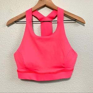 Lululemon pink fast and free sports bra (nulex) 4